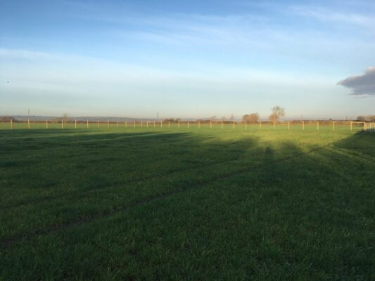 Wide view of Long Clawson dog walking field