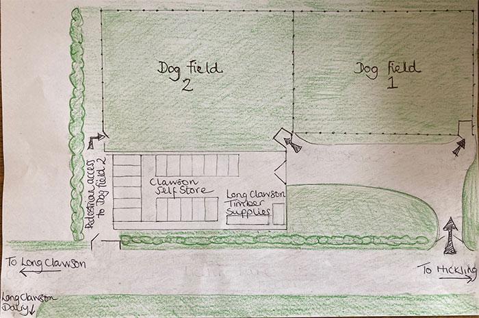 Long Clawson dog walking fields